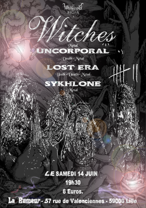 Witches Concert flyer WITCHES + Uncorporal + Lost Era + Sykhlone @  La Rumeur Lille (59)